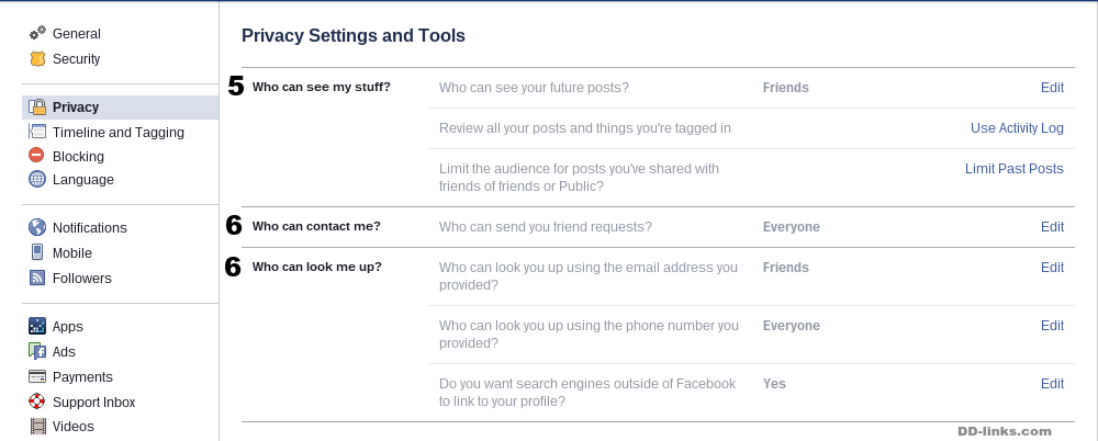 Facebook Privacy Settings and Tools