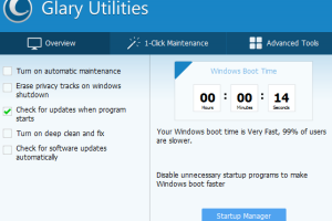 Glary utilities interface