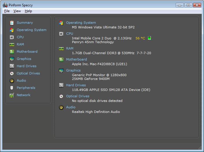 Get Complete and Detailed Picture of your Computer with Speccy for Windows